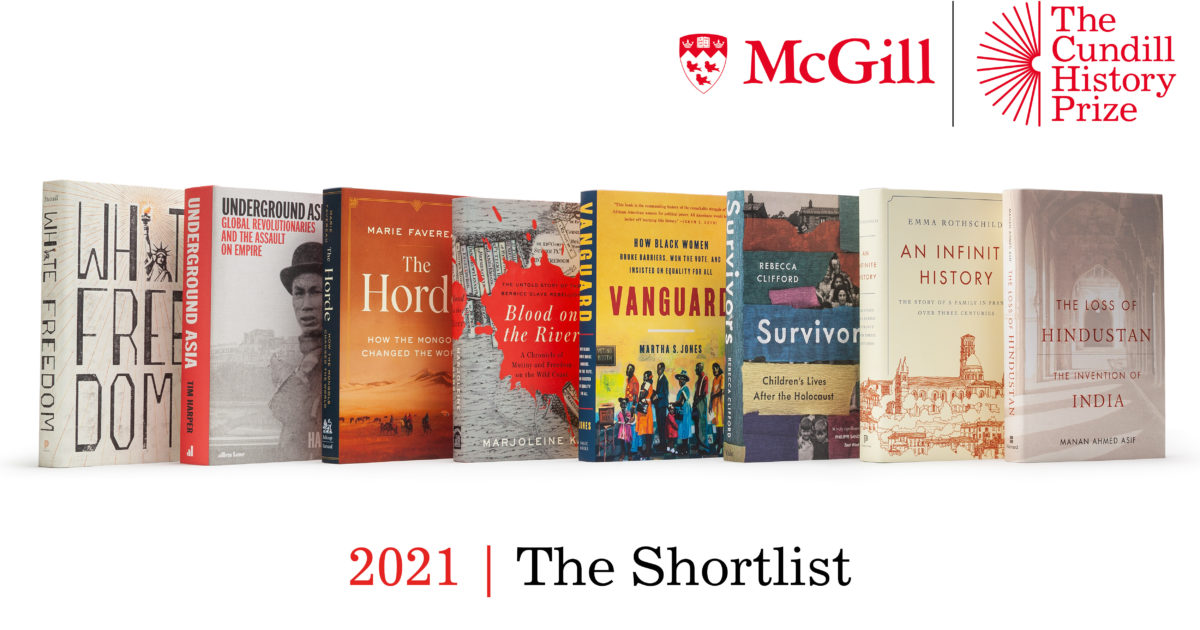 """Topics that """"continue to define the present"""" make 2021 Cundill History Prize shortlist"""